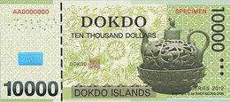 Specimen Île DOKDO Corée 10 000 Dollars 2012 UNC - Specimen