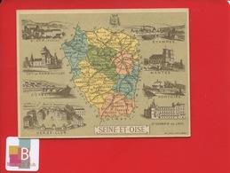 CHROMO Didactique Bognard Département Seine-et-Oise Corbeil Saint-Germain-en-Laye Saint-Cyr école Rambouillet Pontoise - Trade Cards