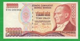 Turchia Turkey 20.000 Turk Lirasy  1970 - Turquie