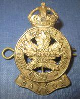 """Cap Badge Canada WW1 Fabrication GB """"Gaunt"""" - 1914-18"""