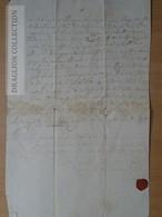 DC53.12 Old Manuscript - Hungary 1725 -wax Seal -Litera Obligtorio Juditha Szegedi - Manuscripts