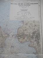 LA ROCHELLE (Ouest) : De L'ILE De RE à L'ILE D'OLERON Et Le PERTUIS D'ANTIOCHE - Echelle 1/47510 - 1968 - Geographical Maps