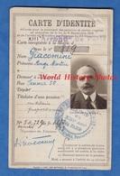 Carte Ancienne D'identité De 1921 - PARIS XIIIe - Ange Martin GIACOMINI , 56 Rue Jenner - Corse ? - Documents Historiques