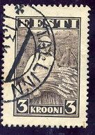 ESTONIA 1935 3 Kr. Harvester Definitive Used  Michel 108 - Estonia