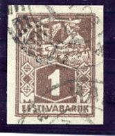 ESTONIA 1922 1 Mk Weaver Imperforate Used.  Michel 33B - Estonia