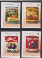 AUSTRALIA, 2017, MNH, JAM LABELS, FRUIT, VINTAGE LABELS, 4v, SELF-ADHESIVE Ex. BOOKLETS - Food