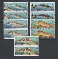 British Antarctic Territory 1999 Fish Of The Southern Ocean 5v (pair) ** Mnh (39815A) - Brits Antarctisch Territorium  (BAT)