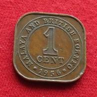 Malaya 1 Cent 1956 KM# 5 Malaia British Borneo Malaysia Malasia Malaisie Malaysie - Malaysie