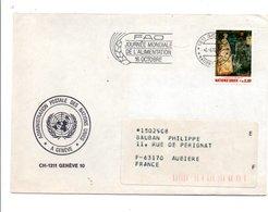 NATIONS UNIES LETTRE DE GENEVE POUR LA FRANCE 1982 - Office De Genève