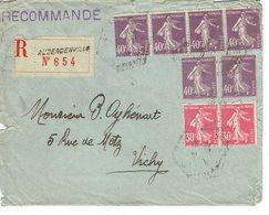 239 X 6 + 191 X 2  Semeuse Camées 40 C. Violet Plus 30 C. Rose LR D'Aubergenville - 1906-38 Semeuse Camée