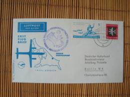 DDR Flugpostbeleg, Erstflug Dresden-Heringsdorf , Deutsche Lufthansa, 1962, Zurück ! - Covers