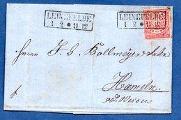 Conf. De L'Allemagne Du Nord  /  Lettre De Leinefelde /  Pour Hameln / Février  1869 - Conf. De L' All. Du Nord