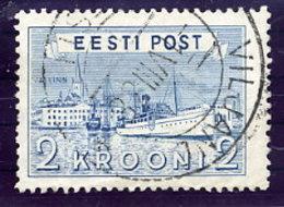 ESTONIA 1938 Tallinn Harbour 2 Kr. Used.  Michel 137 - Estonia