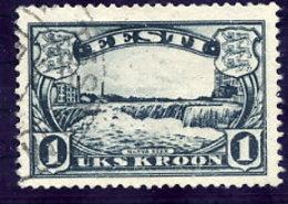ESTONIA 1933  Narva Falls 1 Kr. Used.  Michel 98 - Estonia