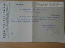 DC53.16  Hungary  BAJA  -Bajai Savings Bank -Bácsalmás 1937 - Facturas & Documentos Mercantiles