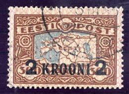 ESTONIA 1930 Surcharge 2 Kr. On 300 Mk. Used.  Michel 88 - Estonia