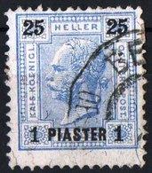 AUSTRIA, UFFICI POSTALI NELL'IMPERO TURCO, 1900, FRANCOBOLLO USATO Michel 34    Scott 34 - Oriente Austriaco