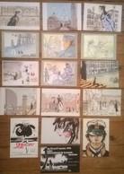 Lot De 16 Cartes Postales CORTO MALTESE Hugo PRATT - Ilustradores & Fotógrafos