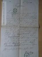 DC55.2  Old Document  - Manuscript - Pilgram -(Amstetten Linz) - Josef Charváth - Barbara Wacek - 1858 - Announcements