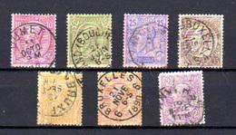 1884-91   Belgique,  Léopold II, 46 / 52, (1f  Rouille), Cote 68,50 €, - 1884-1891 Leopold II