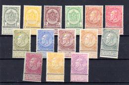 1893-1900   Belgique, Armoiries, Léopold II (fine Barbe), 53 / 66*,(série Courte Pas67 Cote  555 €, - 1884-1891 Leopold II