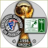 PIN FIFA WORLD CUP 1998 GROUP С FRANCE Vs SAUDI ARABIA - Fútbol