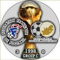 PIN FIFA WORLD CUP 1998 GROUP С FRANCE Vs SOUTH AFRICA - Fussball