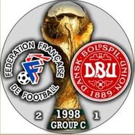 PIN FIFA WORLD CUP 1998 GROUP С FRANCE Vs DENMARK - Fútbol