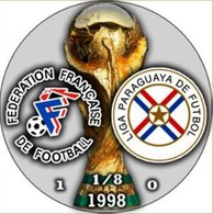 PIN FIFA WORLD CUP 1998 1/8 FINAL FRANCE Vs PARAGUAY - Fútbol