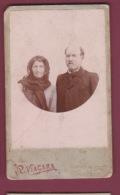310718  - PHOTO CDV P VIACARA G Bd Du Palais BASTIA CORSE -  FRANCHI Couple - Identified Persons