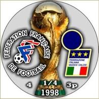 PIN FIFA WORLD CUP 1998 1/4 FINAL FRANCE Vs ITALY - Calcio
