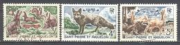 Saint Pierre Et Miquelon: Yvert N° 372/374°; Lapins; Chevreuils Renard - Used Stamps