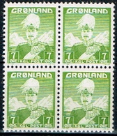 GROELANDIA, REY CHRISTIAN X, 7 ØRE - Groenlandia