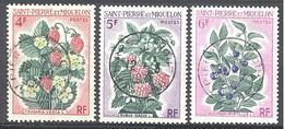 Saint Pierre Et Miquelon: Yvert N° 402/404°; Fleurs - Used Stamps
