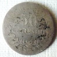 MONEDA DE PLATA DE 50 CENTESIMI DE ITALIA - 1861-1946 : Reino