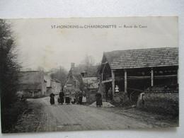 TOP RARE CPA Cpsm CP CALVADOS 14 ST-HONORINE-LA-CHARDONNETTE HÉROUVILLETTE Env LISIEUX V1910 - ROUTE DE CAEN - BE - Autres Communes