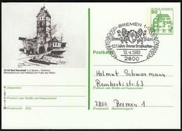 Germany Bremen 1980 / Philatelic Exhibition BREMEN SALON / Bad Neustadt / Postal Stationery - Exposiciones Filatélicas
