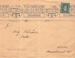 CZECHOSLOVAKIA - LETTER 1928 PRAHA -> APOLDA/GERMANY - Briefe U. Dokumente