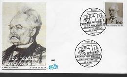 ALLEMAGNE   FDC   1992 Werner Von Siemens Ingénieur - Celebridades