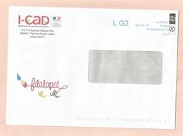 L'Haÿ-Les-Roses (94) I-CAD Identification Des Carnivores Domestiques 112-114 Avenue Gabriel-Péri 2 Scans 2018 L G2 - Marcophilie (Lettres)