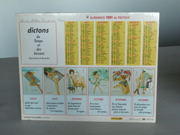 Almanach 1991 - Calendrier Erotique - Femmes - Illustration De RUSECKIS - Dictons Du Temps Et Des Saisons - Nord (59) - Calendriers