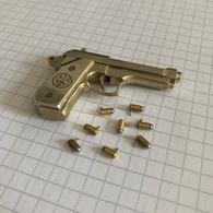 Beretta Pistol - 2mm Pinfire - Miniature Gun - Cap Gun - Action Model - Scale 1:5 - Autres Collections