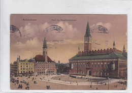 KOBENHAVN. PARTI FRA RAADHUSPLADSEN. MAGASIN DU NORD. CIRCULEE TO USA. CIRCA 1923. DENMARK- BLEUP - Denemarken