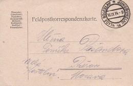 Feldpostkarte Mlada Boleslav Jungbunzlau Nach Prerov - 1914 (36041) - 1850-1918 Imperium