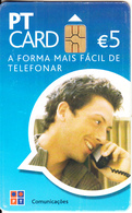 PORTUGAL - Man On Phone, PT Telecard 5 Euro, 01/08, Used - Portugal