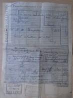 DC55.5 Facture De Fret - Bill Of Freight - Hungary  Jászladány - Vésztő - MÁV  1962 -Railway Transport - Train - Transportation Tickets