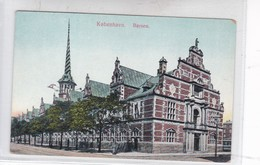 KOBENHAVN. BORSEN. ALEX VINCENTS KUNSTFORLAG. CIRCA 1910's. DENMARK- BLEUP - Denemarken