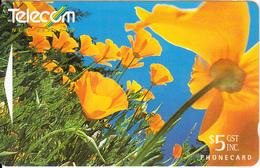 NEW ZEALAND(GPT) - California Poppies, CN : 341B, Used - New Zealand