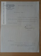 DC57.1  Fölbirtokrendezési Szövetkezet - Kovács Béla Titkár Later  Minister Of Agriculture - Signature - 1935  Hungary - Invoices & Commercial Documents