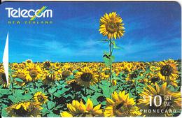 NEW ZEALAND(GPT) - Sunflowers, CN : 341C, Used - New Zealand